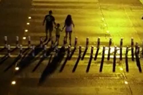 湖南湘潭简易版智慧斑马线